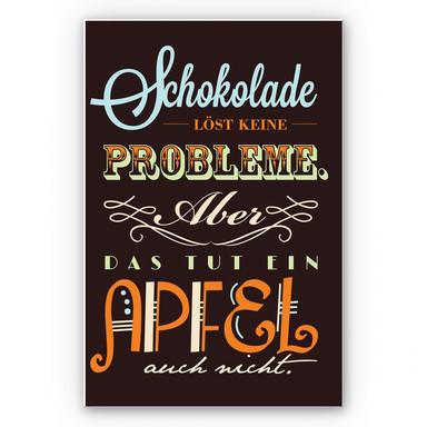 Wandbild Schokolade löst keine Probleme