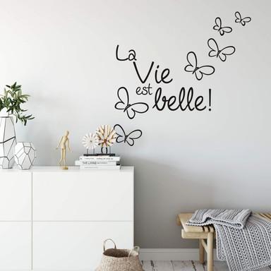 Wandtattoo La vie est belle!