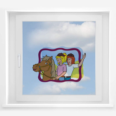 Fensterbild Bibi&Tina eingerahmt
