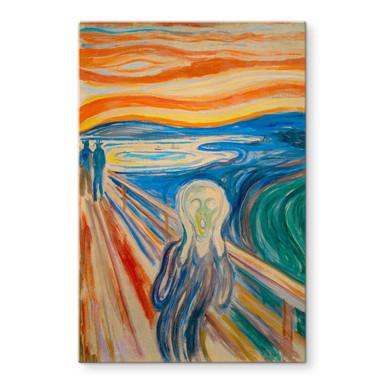 Glasbild Munch - Der Schrei