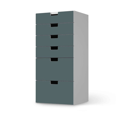 Klebefolie IKEA Stuva / Malad Kommode - 6 Schubladen - Blaugrau Light- Bild 1