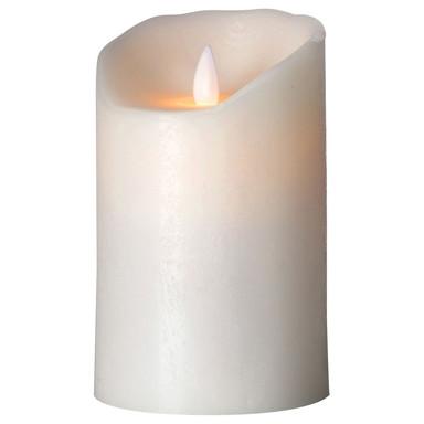 LED Kerze Flame 1W in Weiss gefrostet 125mm