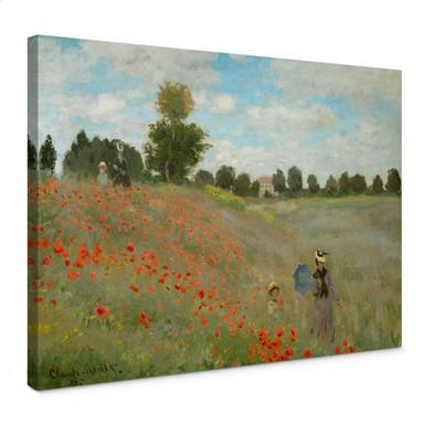 Leinwandbild Monet - Mohnfeld bei Argenteuil