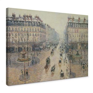 Leinwandbild Pissarro - Die Avenue de l`Opera an einem Wintermorgen