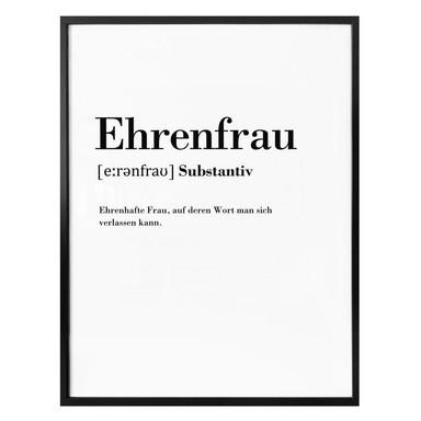 Poster Grammatik - Ehrenfrau