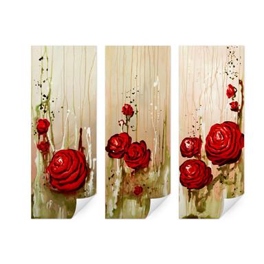 Wallprint Fedrau - Roses (3-teilig)