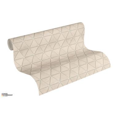 A.S. Création Vliestapete Authentic Walls 2 Tapete geometrisch metallic, grau, braun