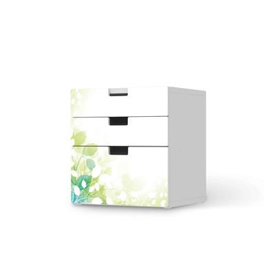 Folie IKEA Stuva / Malad Kommode - 3 Schubladen - Flower Light