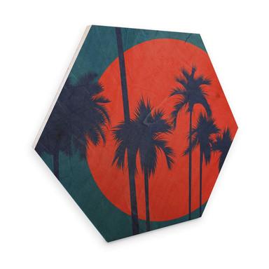 Hexagon - Holz Birke Furnier Kubistika - Côte d'Azur