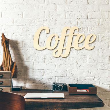 Holzbuchstaben Coffee ink. 8 Klebepads