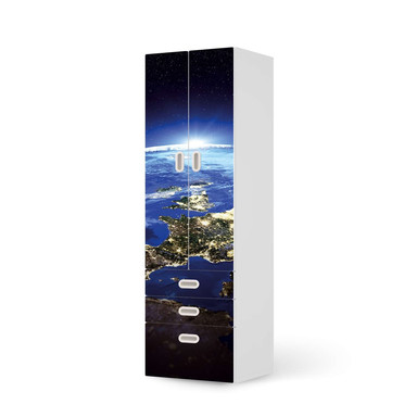 Klebefolie IKEA Stuva / Fritids - 3 Schubladen und 2 grosse Türen - Earth View- Bild 1