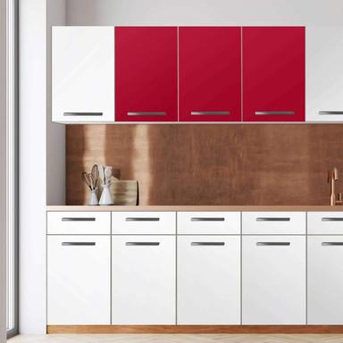 Klebefolie - Wandschrank 120cm Breite - Rot Dark