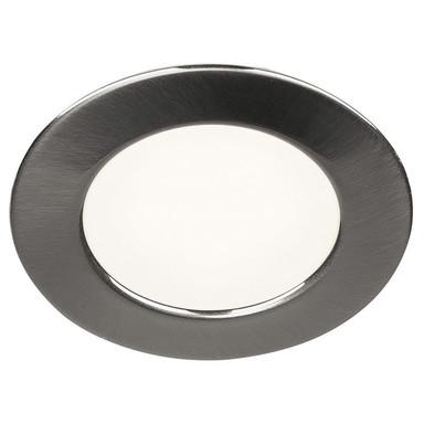 LED Einbauleuchte DL 126. rund, gebürstetes Metall, 3000 K