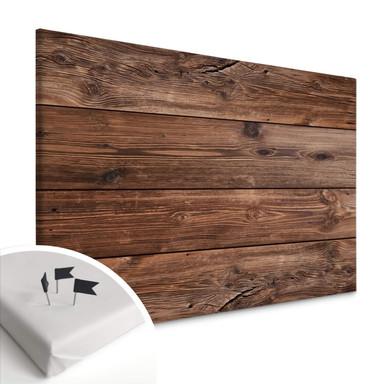 Leinwandbild mit Korkrückwand - Holzpaneele 02