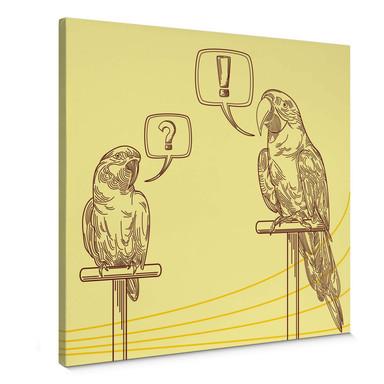 Leinwandbild Papageien Illustration