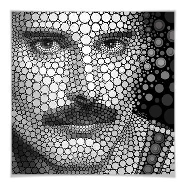 Poster Ben Heine - Circlism: Freddy Mercury