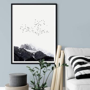 Poster Kubistika - Hoch in den Bergen