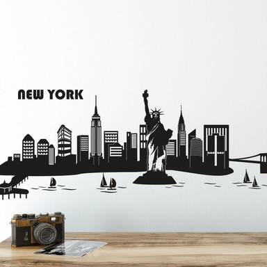 Wandtattoo New York Skyline 2