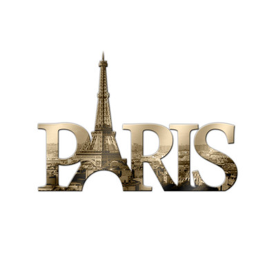 Dekobuchstaben Paris 02 + 8 Klebepads