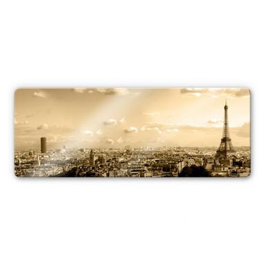 Glasbild Paris Skyline - Panorama
