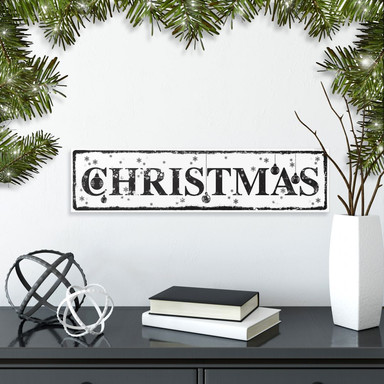 Hartschaumbild Christmas inkl. 8 Klebepads