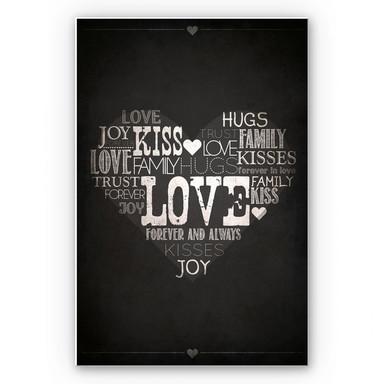 Hartschaumbild Liebesherz - Tafeleffekt