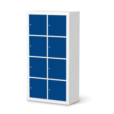 Klebefolie IKEA Expedit Regal 8 Türen - Blau Dark- Bild 1
