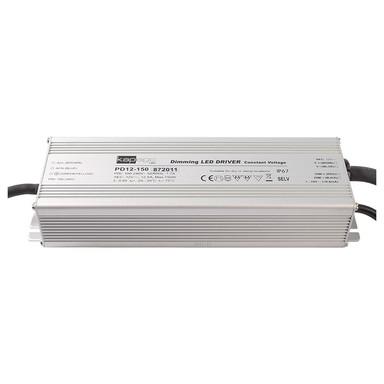 LED Netzgerät in Silber 150W 12V 1-10V IP67