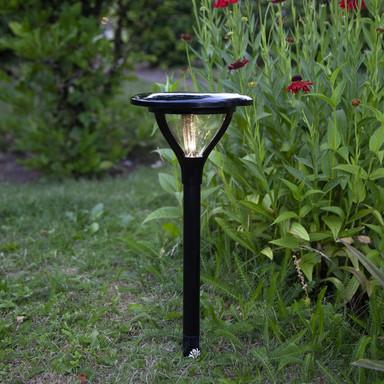 LED Solar Erdspiessleuchte Mervia in Schwarz
