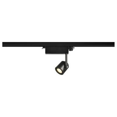 LED Spot Supros für 3Phasen-Stromschiene, 3000K, rund, 60° Linse, 9W, inkl. 3Phasen-Adapter, schwarz