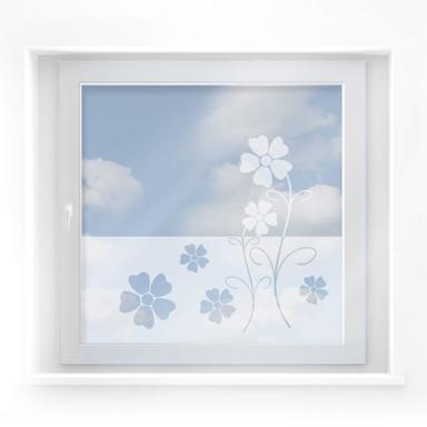 Milchglasfolie Blütenmotiv