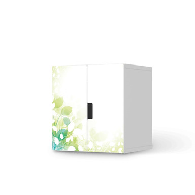 Möbelfolie IKEA Stuva / Malad Schrank - 2 kleine Türen - Flower Light