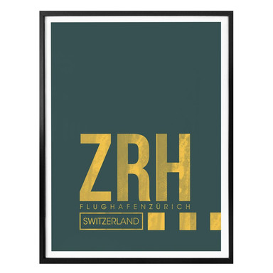 Poster 08Left - ZRH Flughafen Zürich