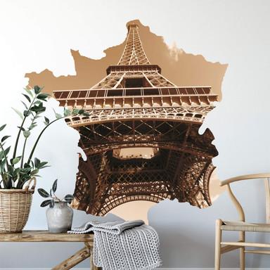Wandsticker Frankreich