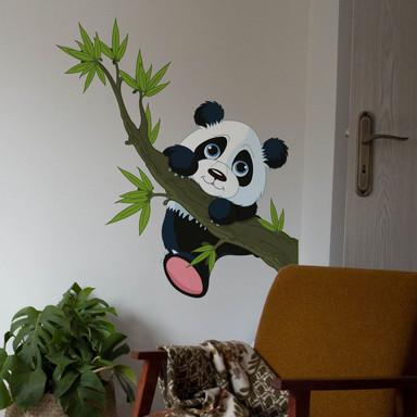 Wandsticker Kletternder Panda