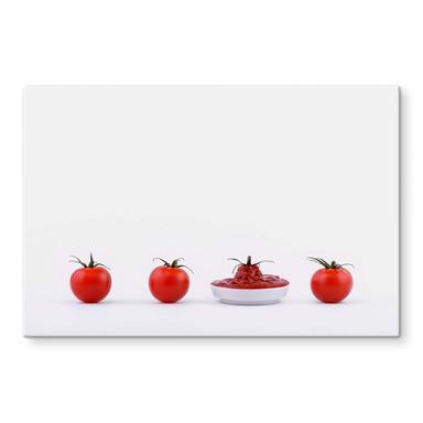 Glasbild Csontos - Es waren einmal vier Tomaten