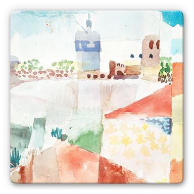 Glasbild Klee - Hammamet mit der Moschee