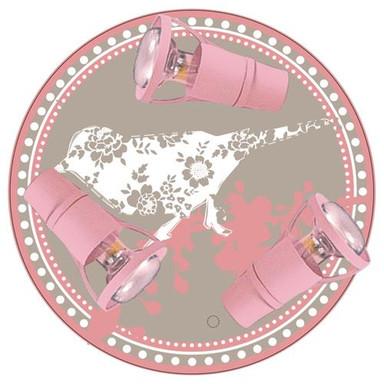 Harmonische Deckenleuchte Kleiner Spatz in rosa