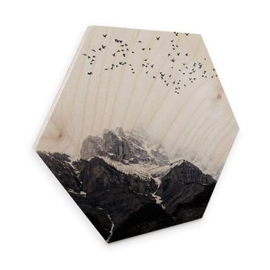 Hexagon - Holz Kubistika - Hoch in den Bergen