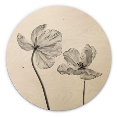 Holzbild Grønkjær - Tulpenblüte - Rund