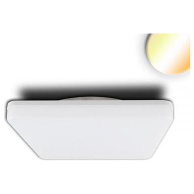 LED Decken/Wandleuchte mit HF-Sensor 24W, quadratisch, IP54. ColorSwitch 3000K 4000K, weiss