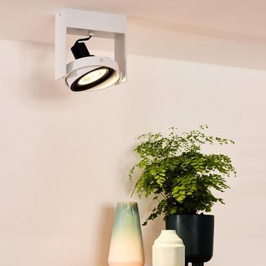 LED Deckenstrahler Griffon in Weiss GU10 12W 820lm