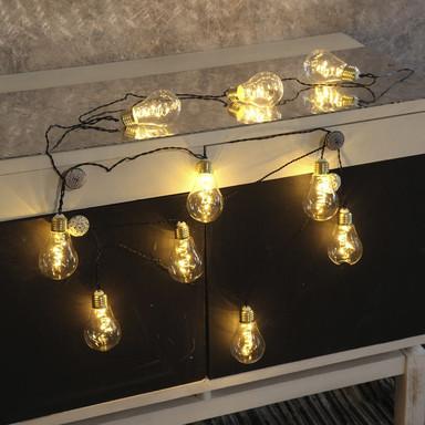 LED Lichterkette Glow, Filament Glühbirne, transparent, 3600mm