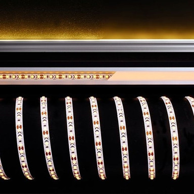 LED Stripe 3528-120-12V-Amber-5M in Weiss 180lm