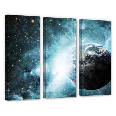 Leinwandbild In einer fernen Galaxie (3-teilig)