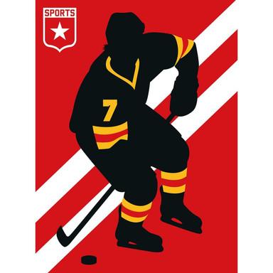 Livingwalls Fototapete ARTist IceHockey gelb, rot, schwarz, weiss - Bild 1