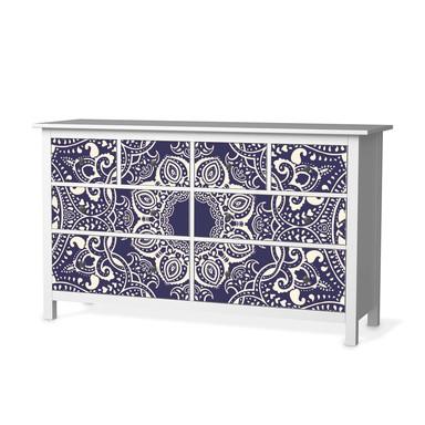 Möbelfolie IKEA Hemnes Kommode 8 Schubladen - Blue Mandala
