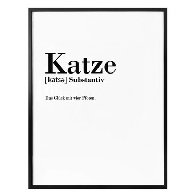 Poster Grammatik - Katze