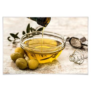Poster Olivenöl