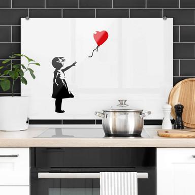 Spritzschutz Banksy - Girl with the red ballon